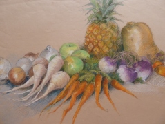 Fresh Vegies Oil pastel