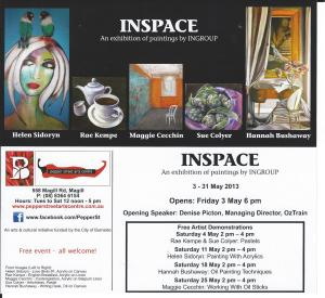 Inscape exhibition invitation