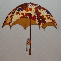 If I Had a Golden Umbrella Acrylic on canvas 76cmx76cm This umbrella belonged to my mother when she was a little girl. It reminds me of the old song, 'If I had a golden umbrella'.