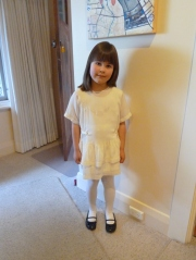 Grace in the dress, all set for the opening