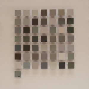 50 Shades of Grey 51cmx51cm Paper, wood, & mixed found objects